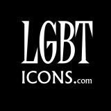 LGBTicons Logo White on Black