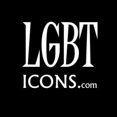 LGBTicons Logo White on Black