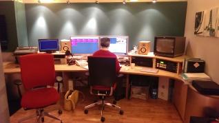 Magnus in editing suite