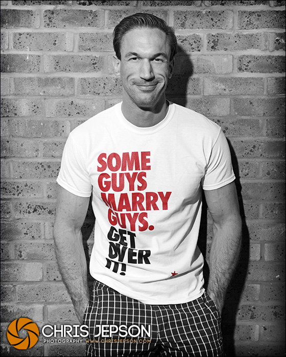 TV star Dr Christian Jessen greets equal marriage with Stonewall t-shirt campaign
