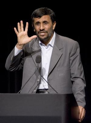 IRANIAN PRESIDENT AHMADINEJAD SPEAKS AT COLUMBIA UNIVERSITY