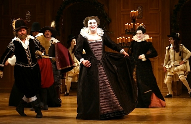 Paul Chahidi and the cast of Twelfth Night Photo by Walter McBride